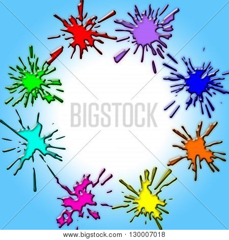 round background for photography from eight varicoloured heels