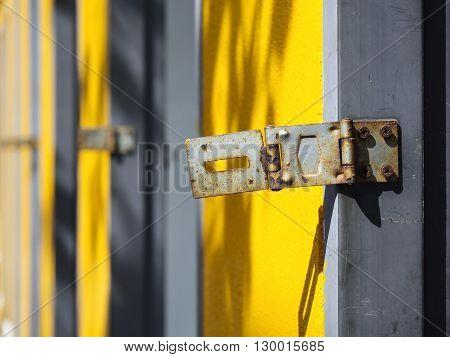 Door lock with Rusty Textured Security system