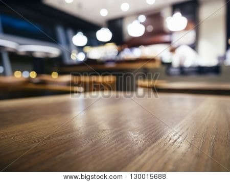Table top Counter Blurred Bar Restaurant shop background