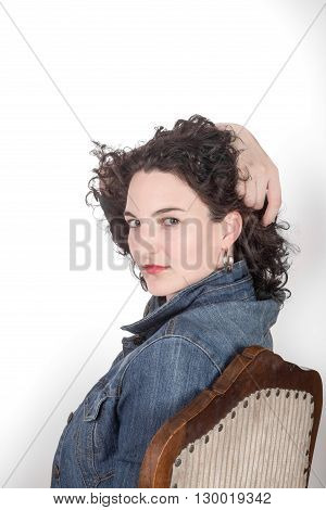Young Adult Woman On Chair