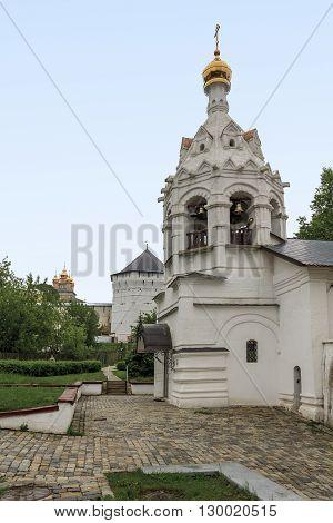 Sergiev Posad, Russia - May 23: This is Pyatnitskaya church bell tower near Trinity-Sergius Laurus of Russian Orthodox Patriarchate May 23, 2013 in Sergiev Posad, Russia.