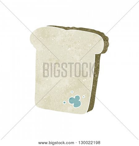freehand retro cartoon mouldy bread