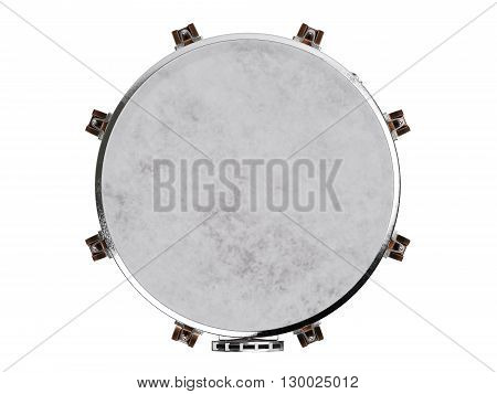 Timpani  isolated on white  background 3D rendering