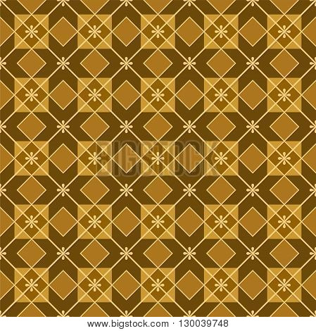 Vector seamless pattern of squares and rhombuses. The pattern for parquet flooring, colour, flat. For the decoration.