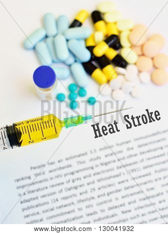 Syringe with drugs for heat stroke disease