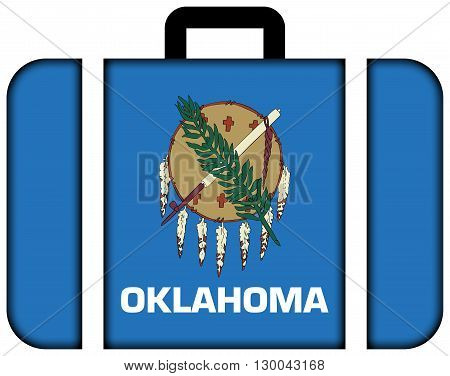 Flag Of Oklahoma State. Suitcase Icon, Travel And Transportation Concept