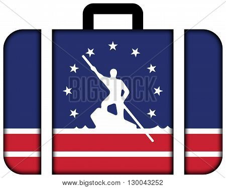 Flag Of Richmond, Virginia. Suitcase Icon, Travel And Transportation Concept