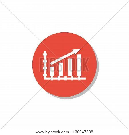 Stats Up Icon In Vector Format. Premium Quality Stats Up Symbol. Web Graphic Stats Up Sign On Red Ci