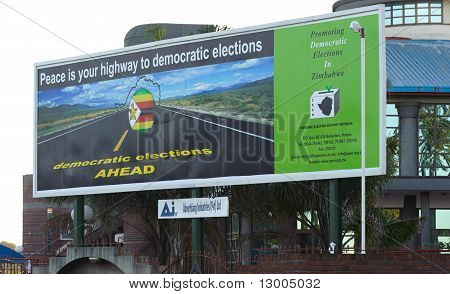 Zimbabwe 2011 Elections billboard