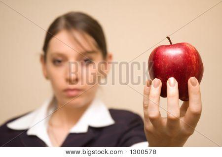 Woman Offering Apple