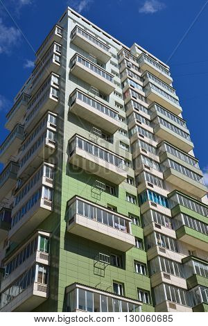 A Modern new apartment building in Moscow, Russia
