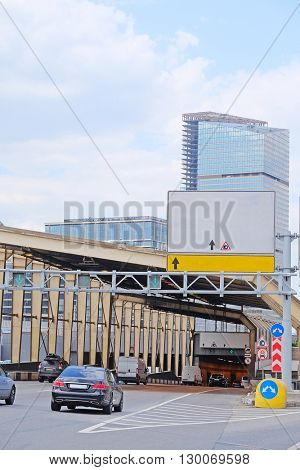 tonnel on the Third Ring (Tretiye Koltso) highway in a center of  Moscow, Russia