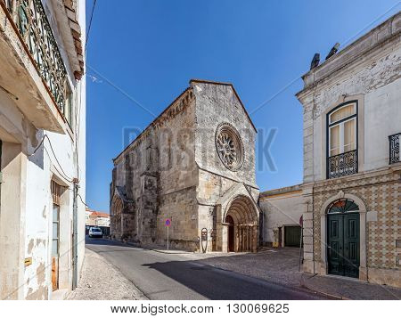 Sao Joao de Alporao Church, built by the Crusader Knights of Hospitaller or Malta Order. 12th and 13th  century Romanesque and Gothic Architecture. Santarem, Portugal