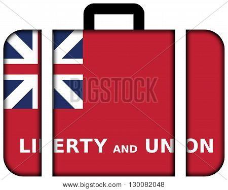 Flag Of Taunton, Massachusetts. Suitcase Icon, Travel And Transportation Concept