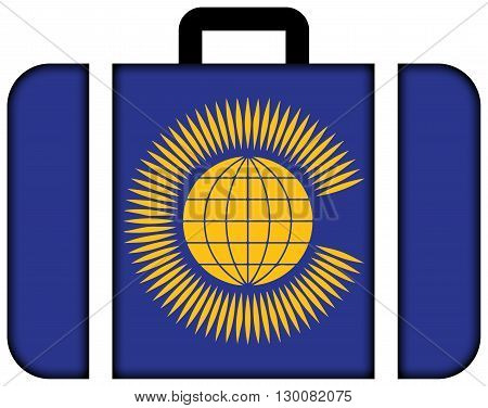 Flag Of The Commonwealth Of Nations. Suitcase Icon, Travel And Transportation Concept