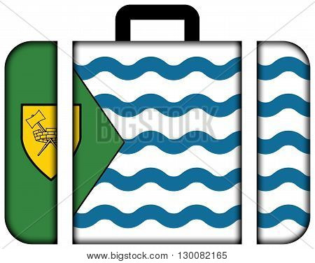 Flag Of Vancouver. Suitcase Icon, Travel And Transportation Concept