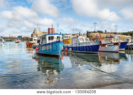 Fishing Boats At Newquay Harbour
