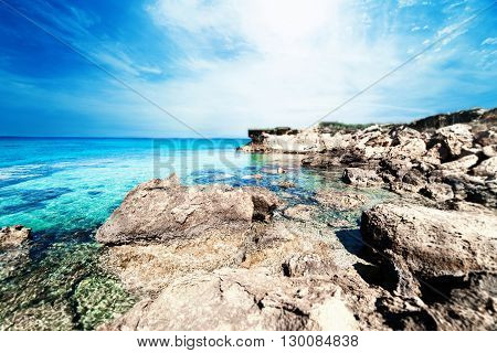 Perfect tropical paradise beach / Sunny day sea paradise / Sea paradise / Paradise postcard