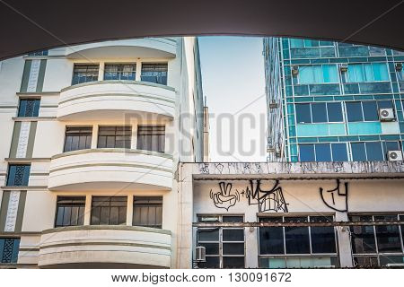 Sao Paulo - April 30, 2016 - Details Of Architecture Located In Front Of Rock Gallery, In Sao Joao A