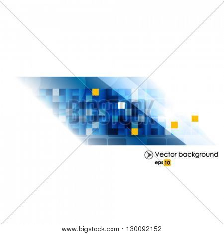 Blue white vector abstract technology background