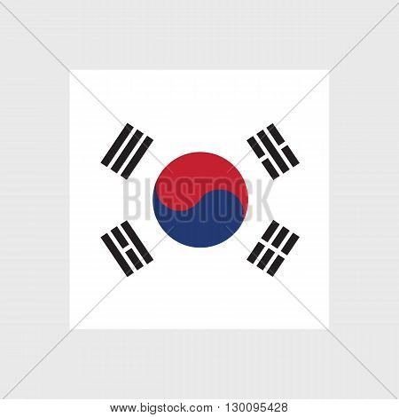 Set of vector icons with South Korea flag
