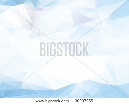 Abstract geometric light blue background - vector