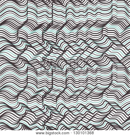 Vector Geometric Striped Seamless Pattern. Repeating Abstract Ch