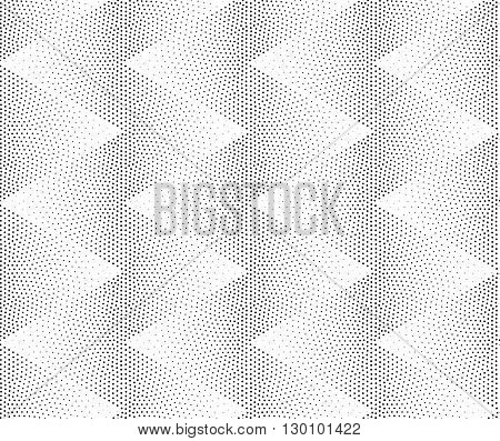 Vector Zigzag Geometric Seamless Pattern. Repeating Abstract Dot