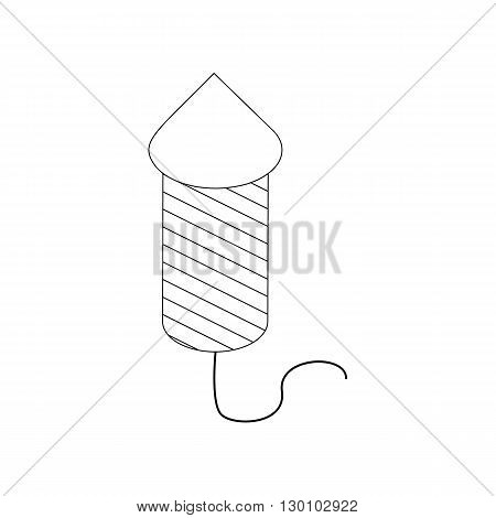 Firecracker icon in isometric 3d style isolated on white background