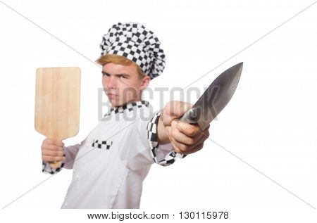 Funny cook isolated on white