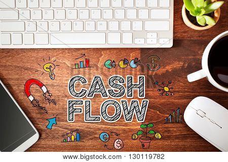 Cash Flow Concept With Workstation