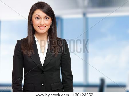 Smiling business woman in the office