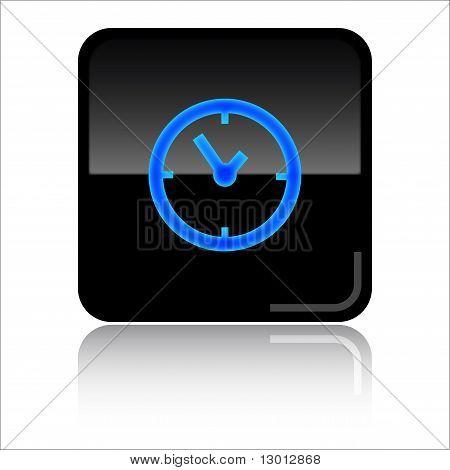 Clock glossy web icon