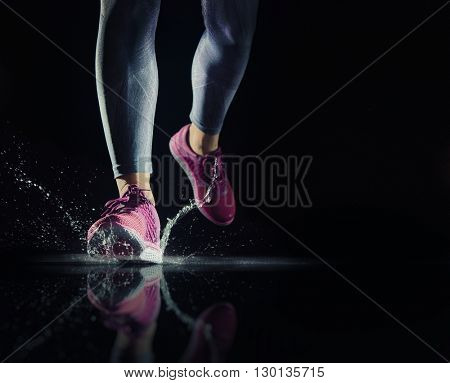 athletes foot close-up. healthy lifestyle and sport concepts.