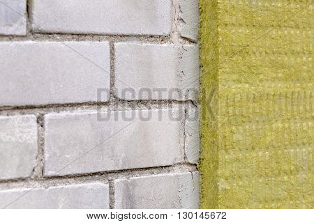 house exterior insulation with mineral rock wool
