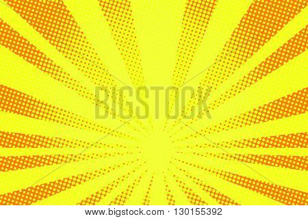 retro comic yellow background raster gradient halftone pop art retro style