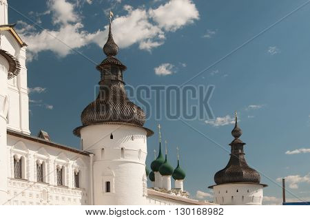 Rostov the Great in spring the kremlin The Church Of St. Gregory the Theologian. The Golden Ring of Russia