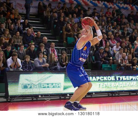 Bc Neptunas Guard Martynas Mazeika (7) Makes 3-point Shot