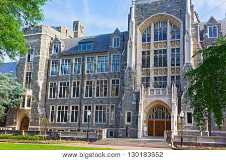 White-Gravenor Hall of Georgetown University Washington DC USA. White-Gravenor is a classroom building that also houses offices for the dean of Georgetown College.