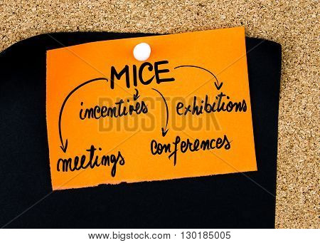 Business Acronym Mice Written On Orange Paper