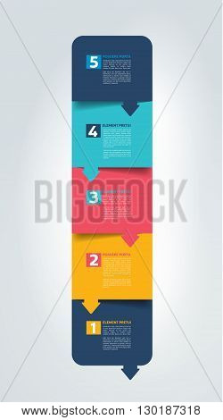 Option step by step schedule, tab, banner. Minimalistic vector design infographic.