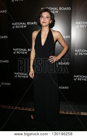 NEW YORK-JAN 5: Actress Maggie Gyllenhaal attends the 2015 National Board of Review Gala at Cipriani 42nd Street on January 5, 2016 in New York City.