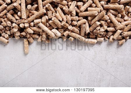 Resource. Pellets on the table
