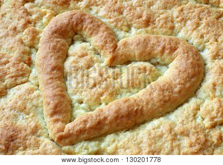 Heart on the pie for Valentine's Day Anniversaries and Birthdays.