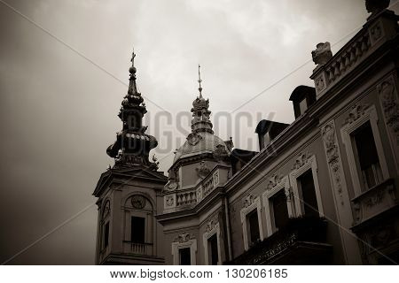 St. Michael the Archangel Cathedral. Belgrade Serbia. poster