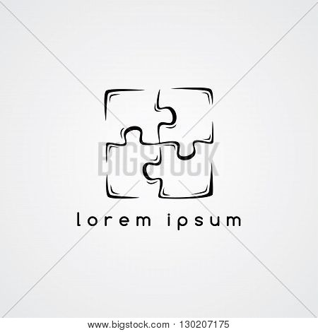 Puzzle Jigsaw Logo Sign Template
