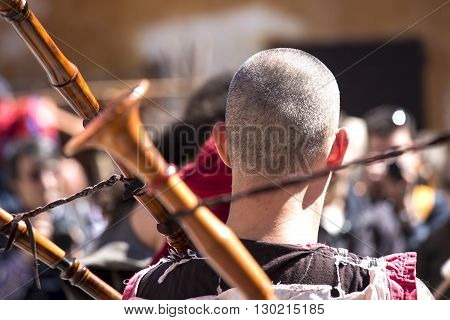 Celtic Festival - Detail Of A Bagpipe