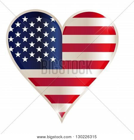 Flag heart american usa america united red concept us love.