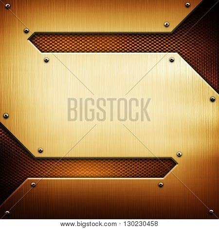 golden metal with s design background
