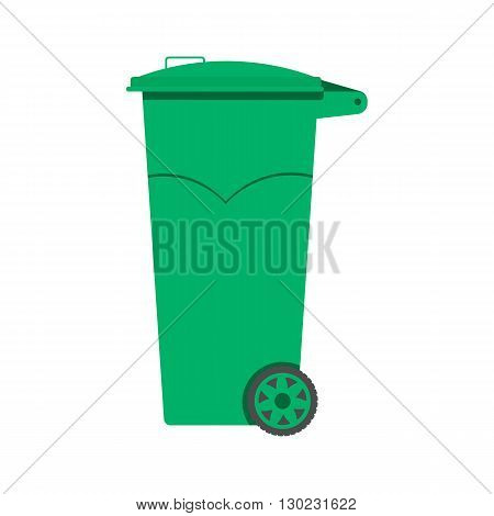 Trash can vector illustration flat design. Trash bins Isolated On White Background. Plastic trash can vector